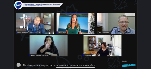 Em live da AME, Mara Gabrilli diz que critério socioeconômico para definir prioridade na vacina é discriminatório
